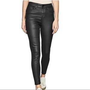 REISS Luxe Coated Mid Rise Skinny Jean New NWT 28